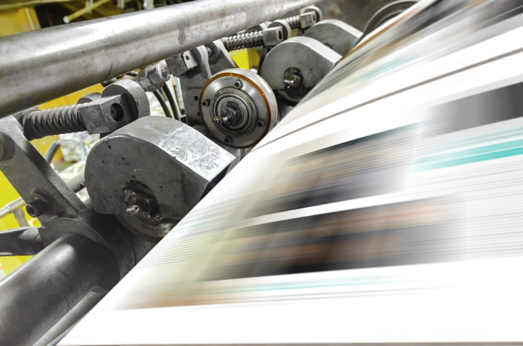Printing machine, hit set speed roto offset print press, newspaper and magazine production industry